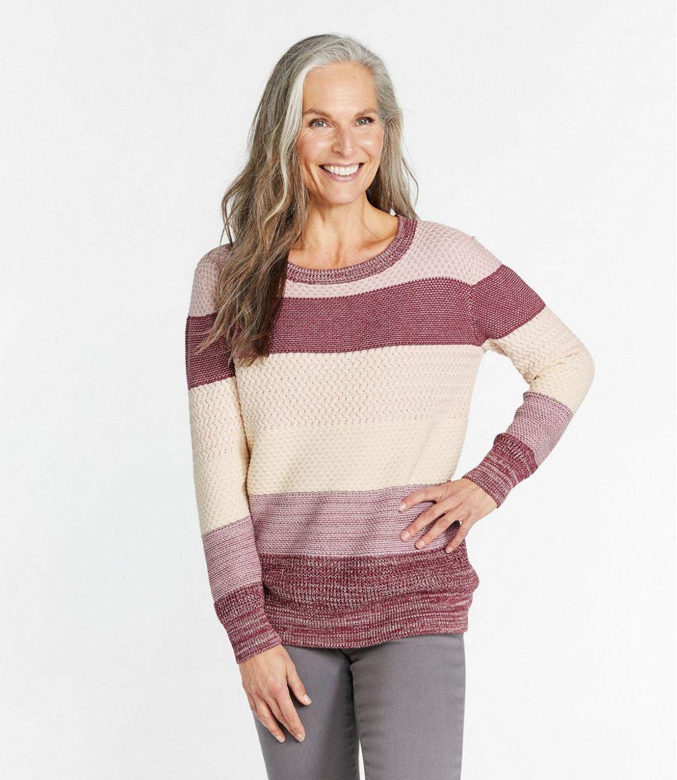Women's Organic Cotton Sweater, Pullover Stripe