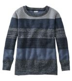 Women's Organic Cotton Sweater, Pullover Stripe