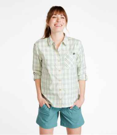 Women's SunSmart™ Shirt Long-Sleeve, Plaid
