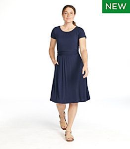Women's Summer Knit Dress, Scoopneck