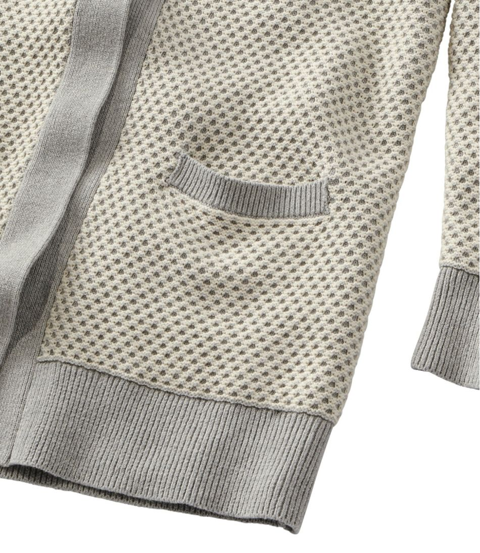 Women's Organic Cotton Sweater, Open Cardigan