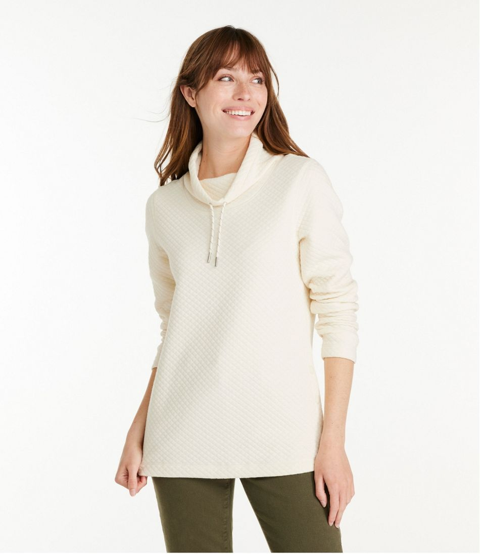 Women's SoftLight Quilted Top, Funnelneck Pullover