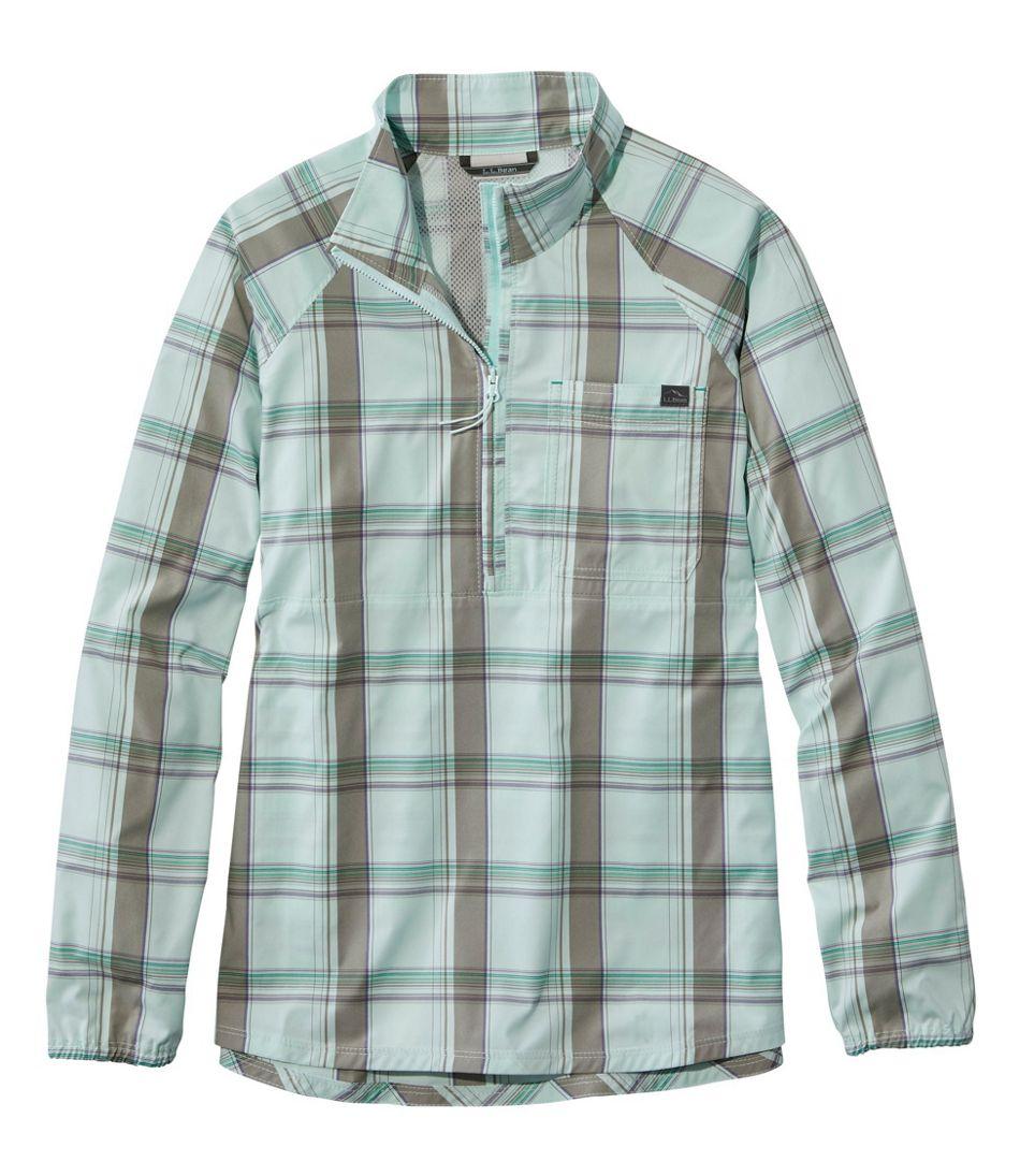 Women's SunSmart™ Shirt, Quarter-Zip Pullover Plaid