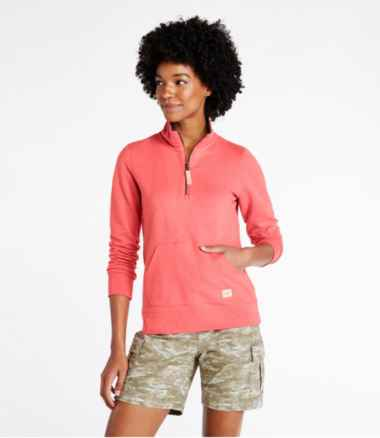 Women's Organic Cotton Sweatshirt, Quarter-Zip Pullover