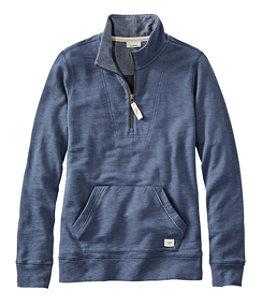 Women's Organic Cotton Sweatshirt, Quarter-Zip Pullover