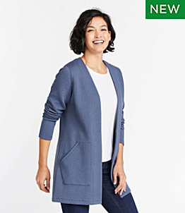 Women's SoftLight Quilted Top, Cardigan
