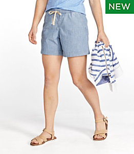 Women's Lakewashed Dock Shorts, Chambray