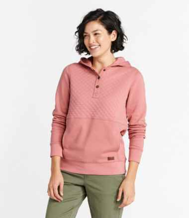 Women's Quilted Sweatshirt, Hooded Pullover