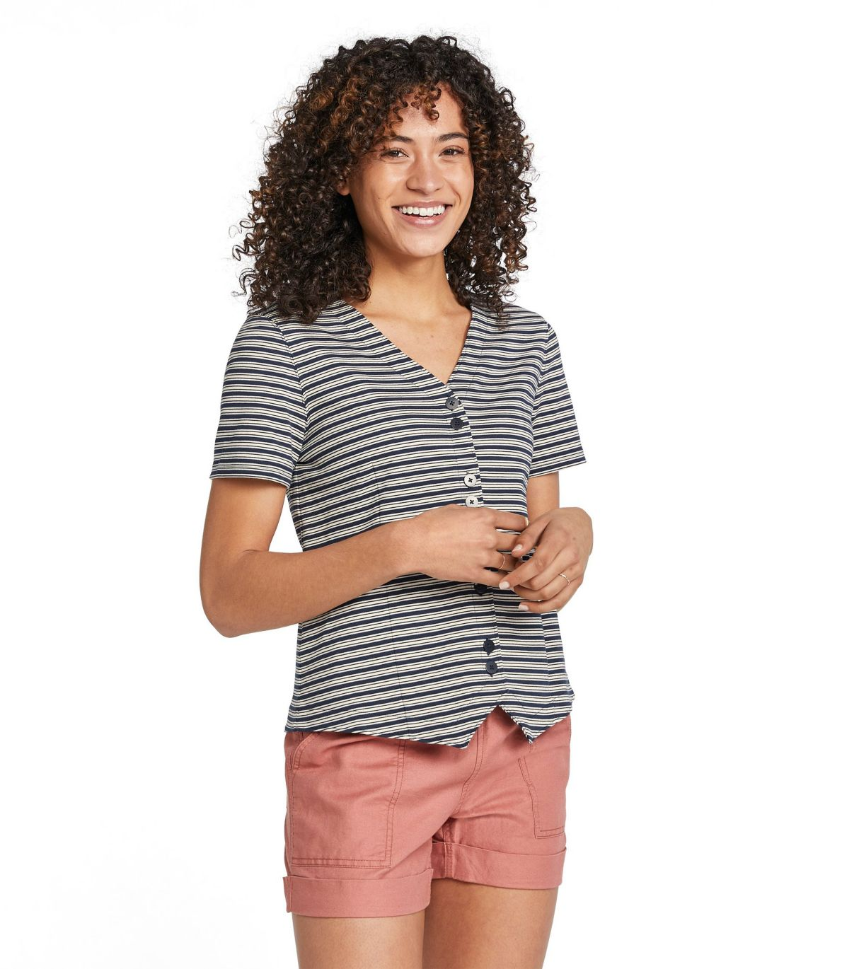 Women's Signature Button-Front Knit Top