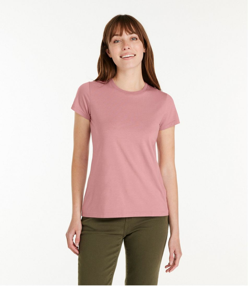Women's Soft Stretch Supima Tee, Crewneck Short-Sleeve