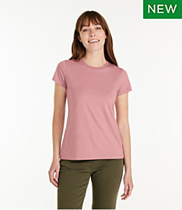 Women's Soft Stretch Supima Tee, Crewneck Short-Sleeve