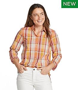 Women's Signature Summer Seersucker Shirt, Long-Sleeve