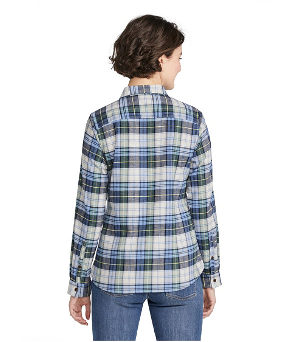 BeanFlex All-Season Flannel Shirt, Classic Navy, large image number 2