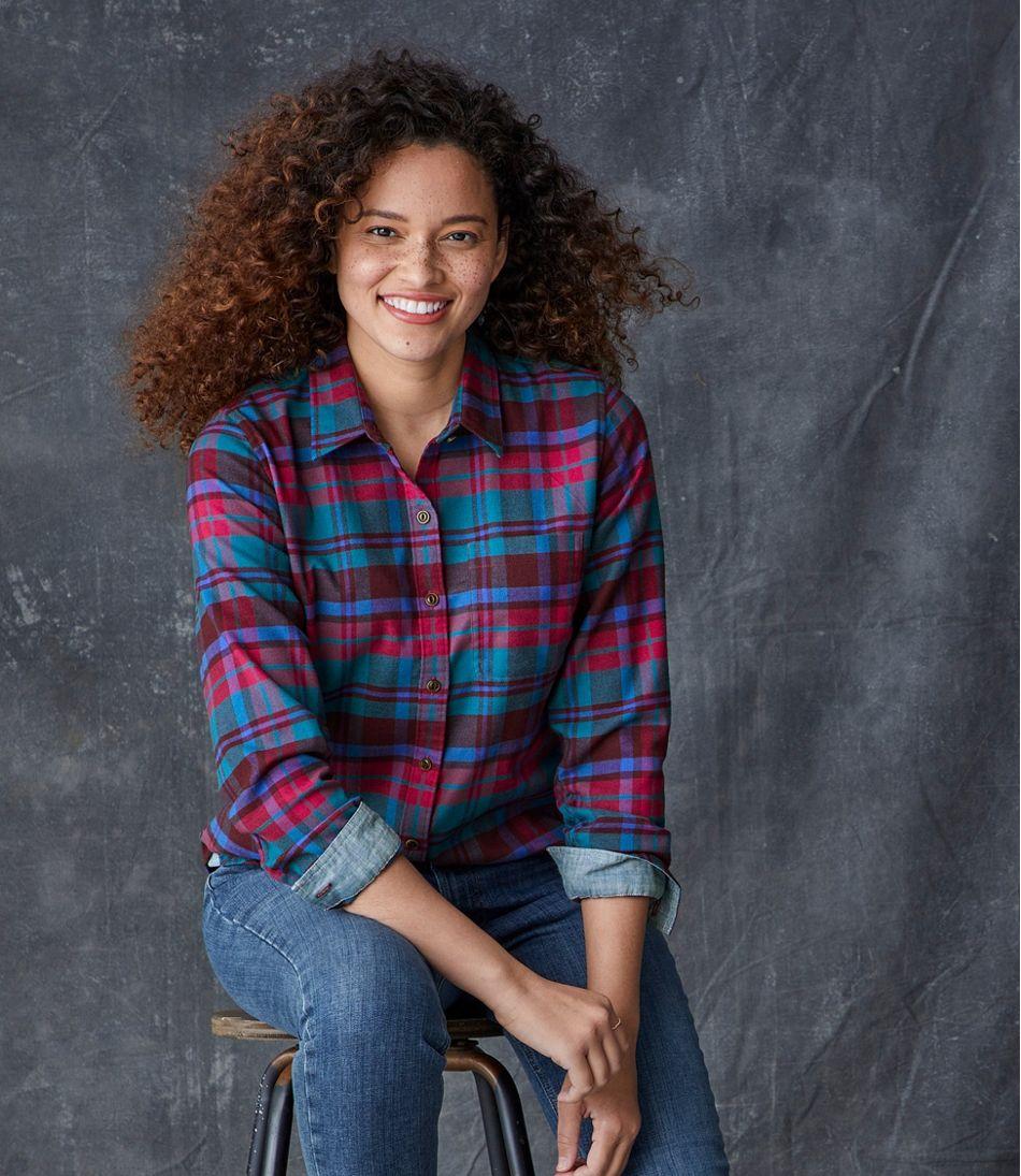 Women's BeanFlex All-Season Flannel Shirt, Long-Sleeve