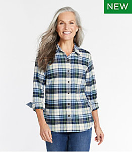 Women's BeanFlex All Season Flannel Shirt, Long-Sleeve