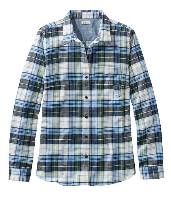 BeanFlex All-Season Flannel Shirt, Pine Forest, large image number 0