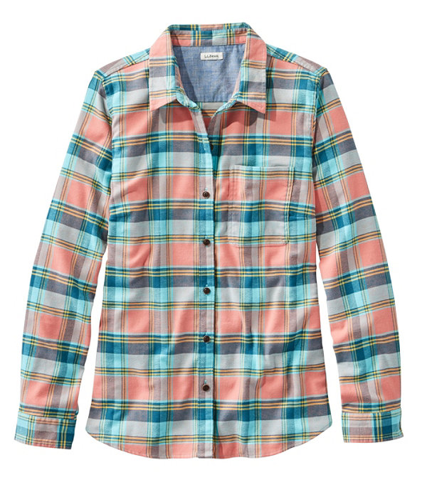BeanFlex All-Season Flannel Shirt, Dusty Orange, large image number 0