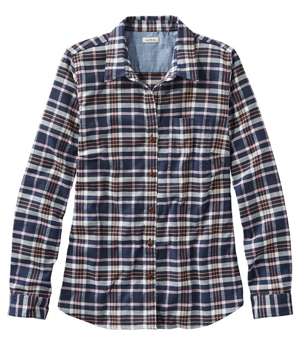 BeanFlex All-Season Flannel Shirt, Classic Navy, large image number 0