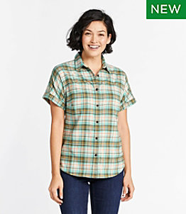 Women's BeanFlex All-Season Flannel Shirt, Short-Sleeve