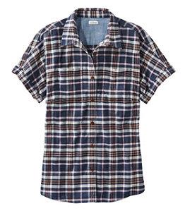 Women's BeanFlex All-Season Flannel Shirt, Short-Sleeve