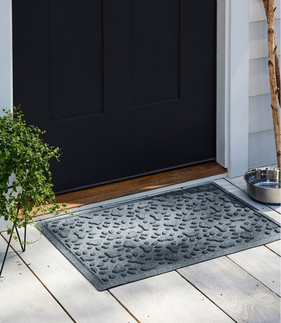 Recycled Waterhog Dog Mat, Scattered Paws