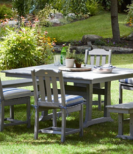 All-Weather Farmhouse Table, Square, 8-Person