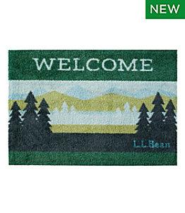 Machine Washable Doormat, Pine Trees