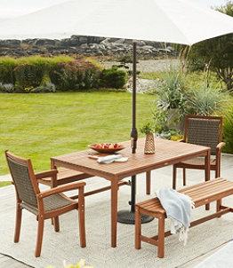 Wicker Eucalyptus Dining Chair