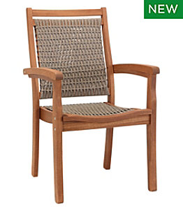 Wicker Eucalyptus Dining Chair