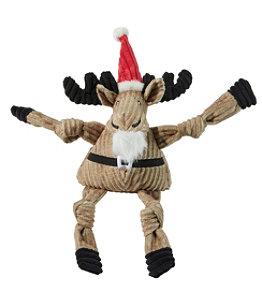 Holiday Knottie Dog Toy, Santa Moose