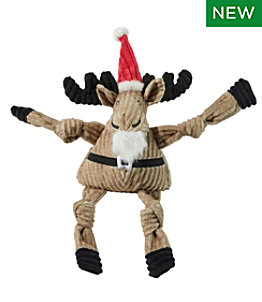 Holiday Knottie Dog Toy, Santa Moose