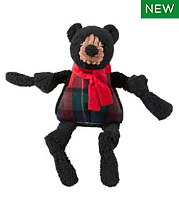 Holiday Knottie Dog Toy, Black Bear