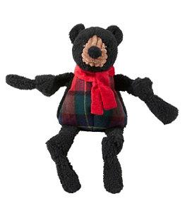Holiday Knottie Dog Toy, Black Bear
