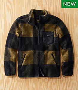 Men's L.L.Bean x Todd Snyder Hi-Pile Sherpa Shirt Jacket, Zip-Front, Print