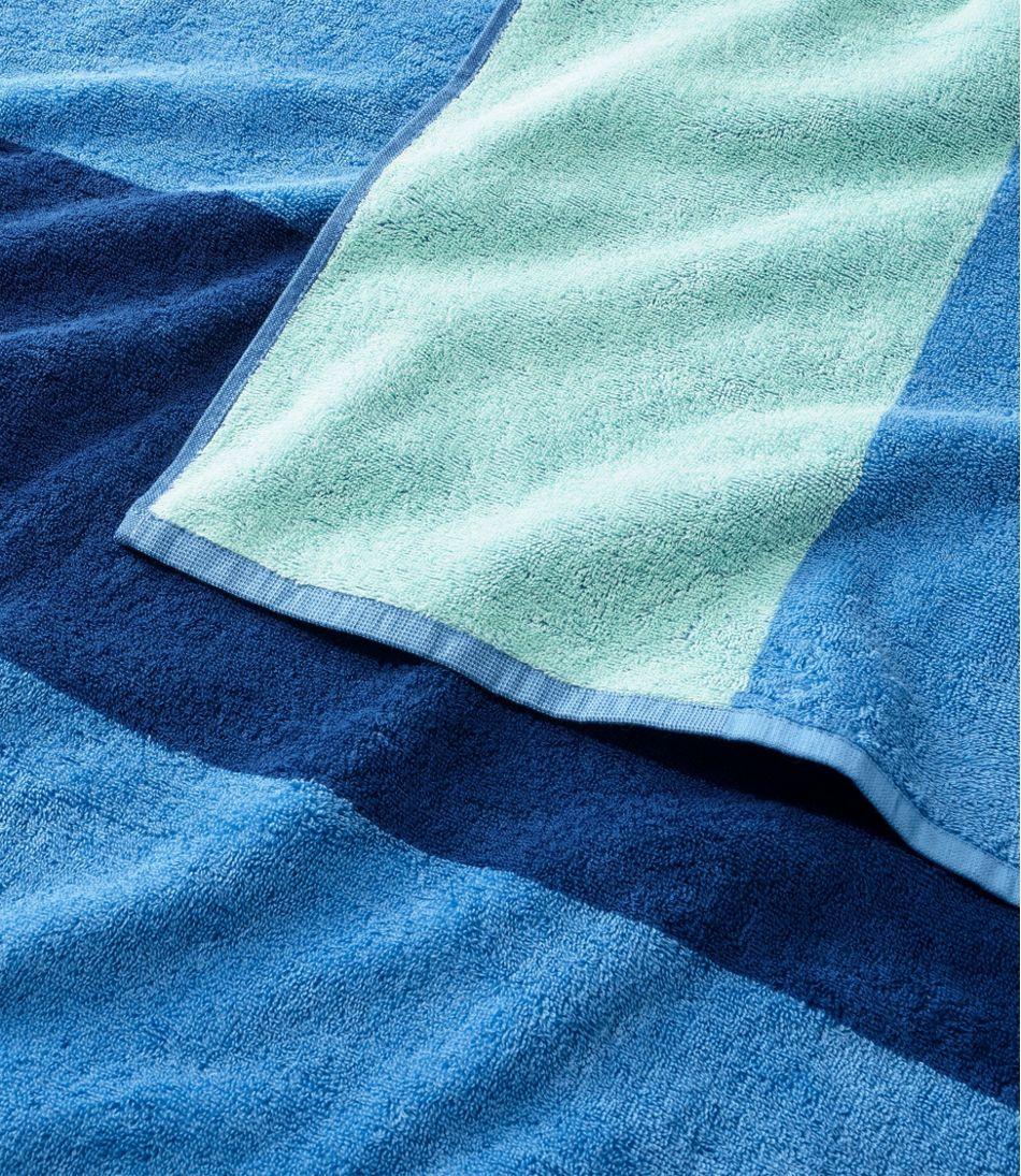 Seaside Beach Towel, Reversible Stripe