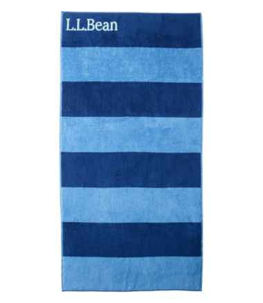 Seaside Beach Towel, Reversible Stripe