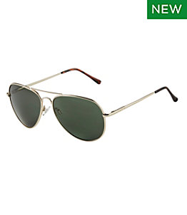 Adults' L.L.Bean Classic Aviator Polarized Sunglasses