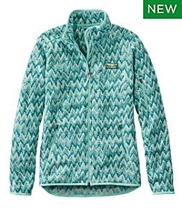 Women's L.L.Bean Sweater Fleece Full-Zip Jacket, Print