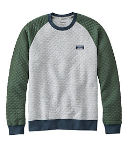 Men's Quilted Sweatshirt, Crewneck, Colorblock