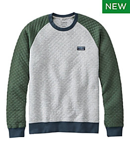Men's Quilted Sweatshirt, Crewneck, Colorblock