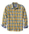 Men's BeanFlex Flannel Shirt, Warm Gold, small image number 0