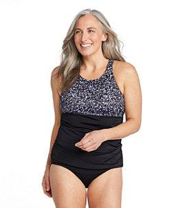 Women's BeanSport Swimwear, High-Neck Tankini Colorblock