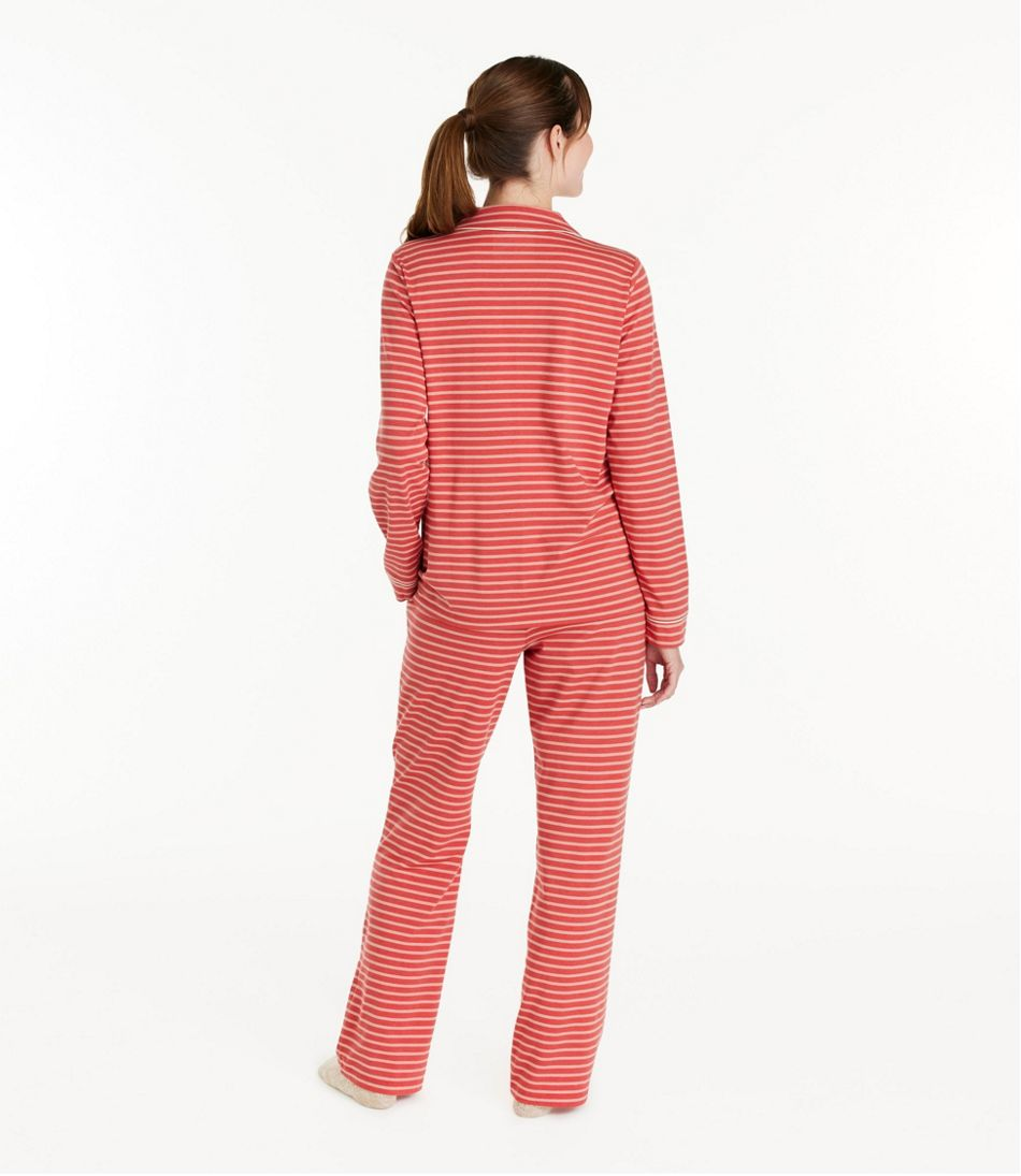 Women's Super-Soft Shrink-Free Button Front Pajama Set, Stripe