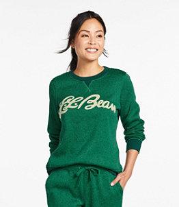 Women's Lightweight Sweater Fleece Top, Print