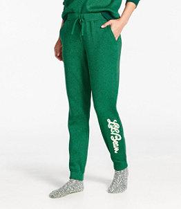 Women's Lightweight Sweater Fleece Pants, Print