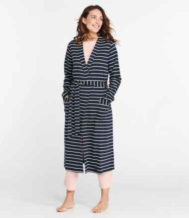 Women's Supima Robe, Stripe