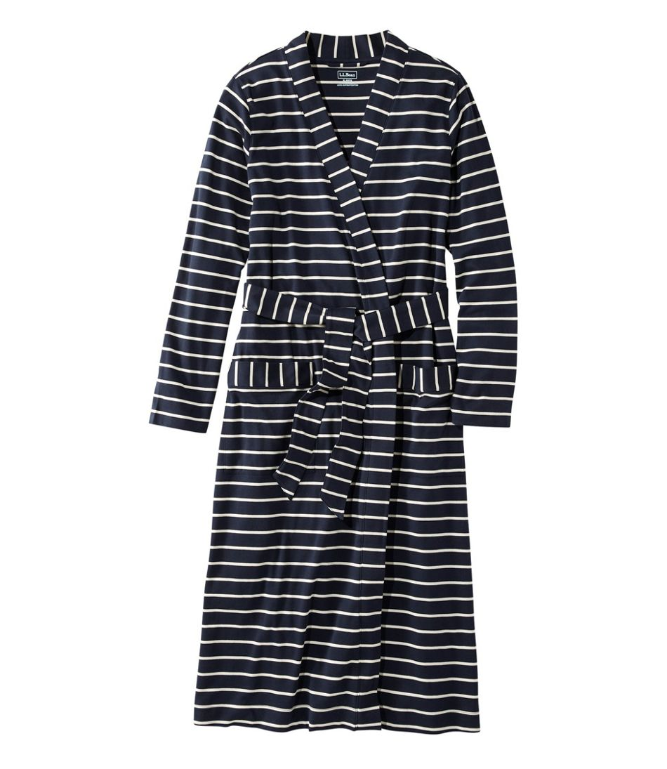 Women's Supima Robe, Stripe