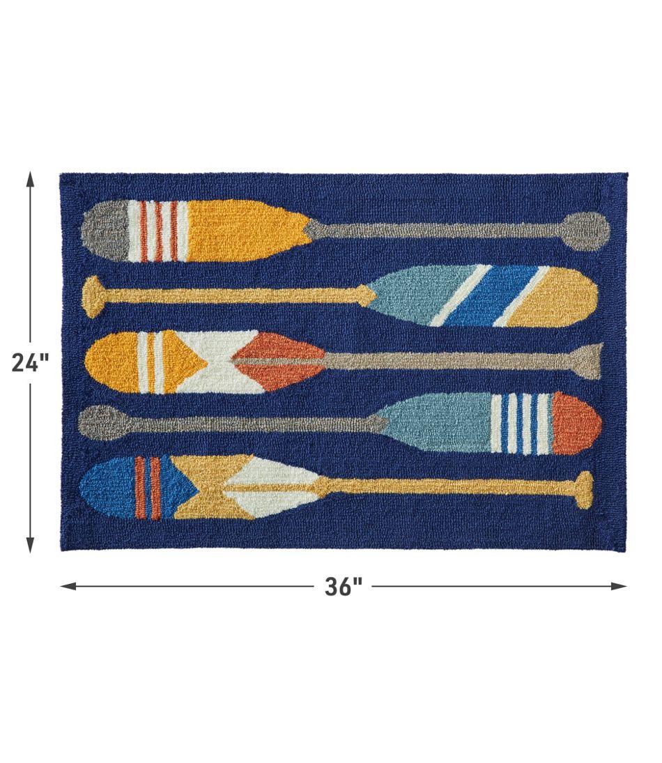 Indoor/Outdoor Vacationland Rug, Paddles