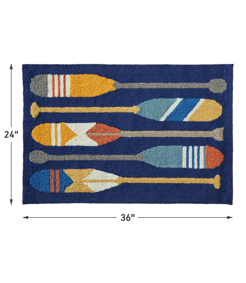 Indoor/Outdoor Vacationland Rug, Paddles