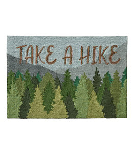 Indoor/Outdoor Vacationland Rug, Mountain Scene
